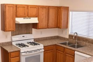 Kitchen with new sink fixtures
