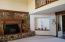 Art Bays and Flagstone Fireplace give this spacious room character.