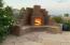 Custom gathering fireplace