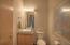 Powder room with silestone and sleek sink