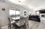 Nice roomy dining area flows between Kitchen and Family Room.
