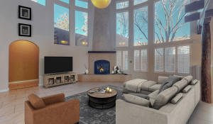 virtual staging of the main living space