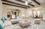 Virtually staged living/dinning room
