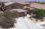 Drone front view of the home
