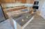 Eating counter with Volcano Gold Granite