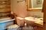 Bathroom with replica claw foot tub on main level