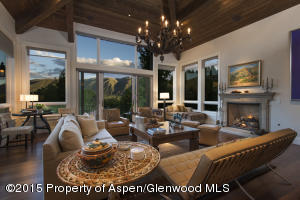 Stunning Tuscan inspired architecture with views over downtown Basalt to Aspen.
