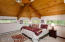 The view and sound of the river is with you here too. Vaulted wood ceiling and windows surround.