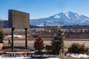 LED sign and view of Sopris