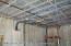 12' ceilings, metal framing, fire suppressant system
