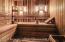 Sauna within the spa room.