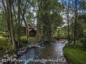 Snowmass Creek with cabin