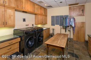 Lower level laundry