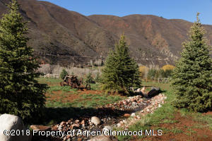Hoaglund Ranch landscaping with stream
