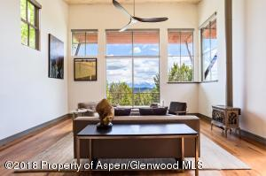 Living Room with Sopris Views
