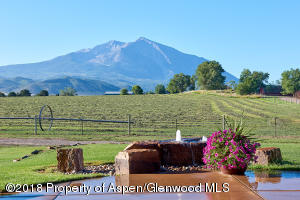 Water feature with view to Sopris