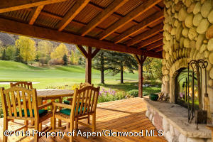 Wrap-a-round deck with views of the 14th green