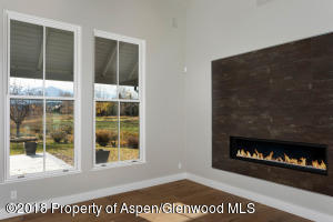 Gas fire place and Patio