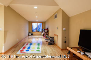 Spacious bonus room on upper level