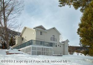 House facing gardens & Roaring Fork Valley