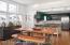 Open dining/kitchen