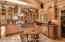 Gourmet kitchen with walk-in pantry.