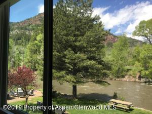 Studio window view overlooking the Crystal River