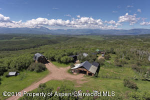 Overview of homes and 35 acres with vista views of Mt.Sopris and Elk Mountain