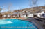 Enjoy this beautiful slope side pool and outdoor hot tub.