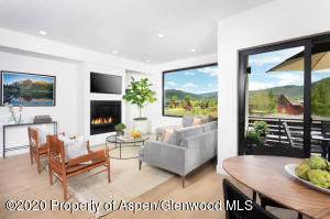 Bright and light filled with windows overlooking Linear Park and the Willits neighborhood.