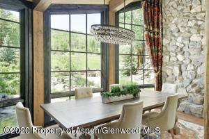 Woody Creek Estate dining area