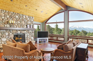 living room sopris view