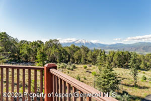 Mt. Sopris view from deck