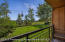 Summer lawn with picnic table, just steps from Elk Camp Gondola and Mountain Biking rentals