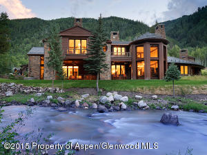 Situated directly on the banks of the Roaring Fork River