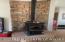 custom rock wood stove surround