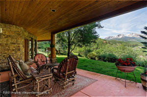 Walk-out patio overlooking Sopris
