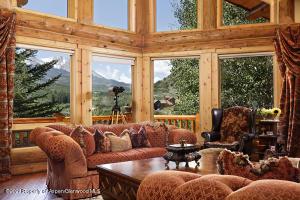 Living room w/ Sopris views