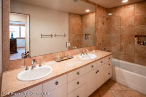 Guest bedrooms 2 & 3 share this bathroom