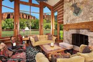 Grand room with 30-foot windows showcasing stunning views