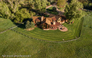 Arial view illustrating luscious landscaping