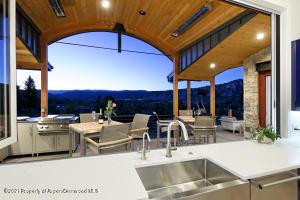 Kitchen open to outdoors