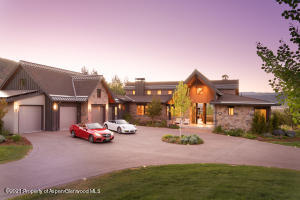 4 car heated garage with LED lit entry