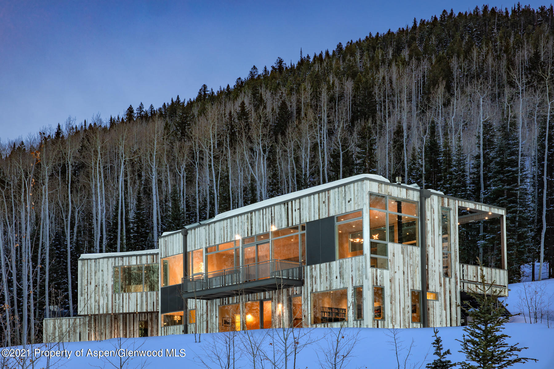 Unique opportunity to create a three-parcel family compound in Aspen with a total of 21,500 of approved vested floor area without any need for TDRs.  Offered together for the first time, these three Conundrum Creek properties are amazingly secluded yet only 9 minutes from Aspen.  This Compound package includes the existing state of the art home at 82 Winding Way, along with the larger Hideout Lot and the smaller Upper Lot. The 7.5 acre Hideout lot is framed by a cathedral of mature pines and aspen trees, private yet with dramatic views of Five Fingers and the west side of Aspen Mountain, and allows you to build up to 10,000 square feet with vested rights and no TDR's required.    The Upper Lot with majestic views of Five Fingers allows for an additional 5750 square foot residence.  Included are plans for 2 different homes, already pending for site plan approval by Pitkin County.  While creating your perfect retreat on the adjoining home sites, you'll enjoy an elegant mountain lifestyle in the treehouse-style residence at 82 Winding Way in which no detail was overlooked.  Reclaimed vintage barnwood siding creates an extension of the surrounding aspen grove, blending seamlessly into the alpine landscape, positioned to enjoy natural light all day with majestic views of soaring mountain peaks - Five Fingers to the west and Aspen Mountain to the east.   The central gathering space of the home is the living & kitchen area, with cozy alcoves for relaxing and broad open spaces for entertaining. An expansive dining terrace sits off the living room, and includes a custom lighting & music system for an unmatched ambiance bordered by National Forest lands.  The master suite is conveniently located on the main level, along with a library nook that doubles as a second home office. Four additional bedrooms are located downstairs, with all bedrooms above grade.   Abundant storage can be found throughout the property, including an oversized garage for two cars and plenty of space fo