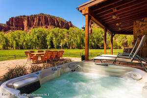 Ride your horse, fly fish, take a hot tub... do it all?