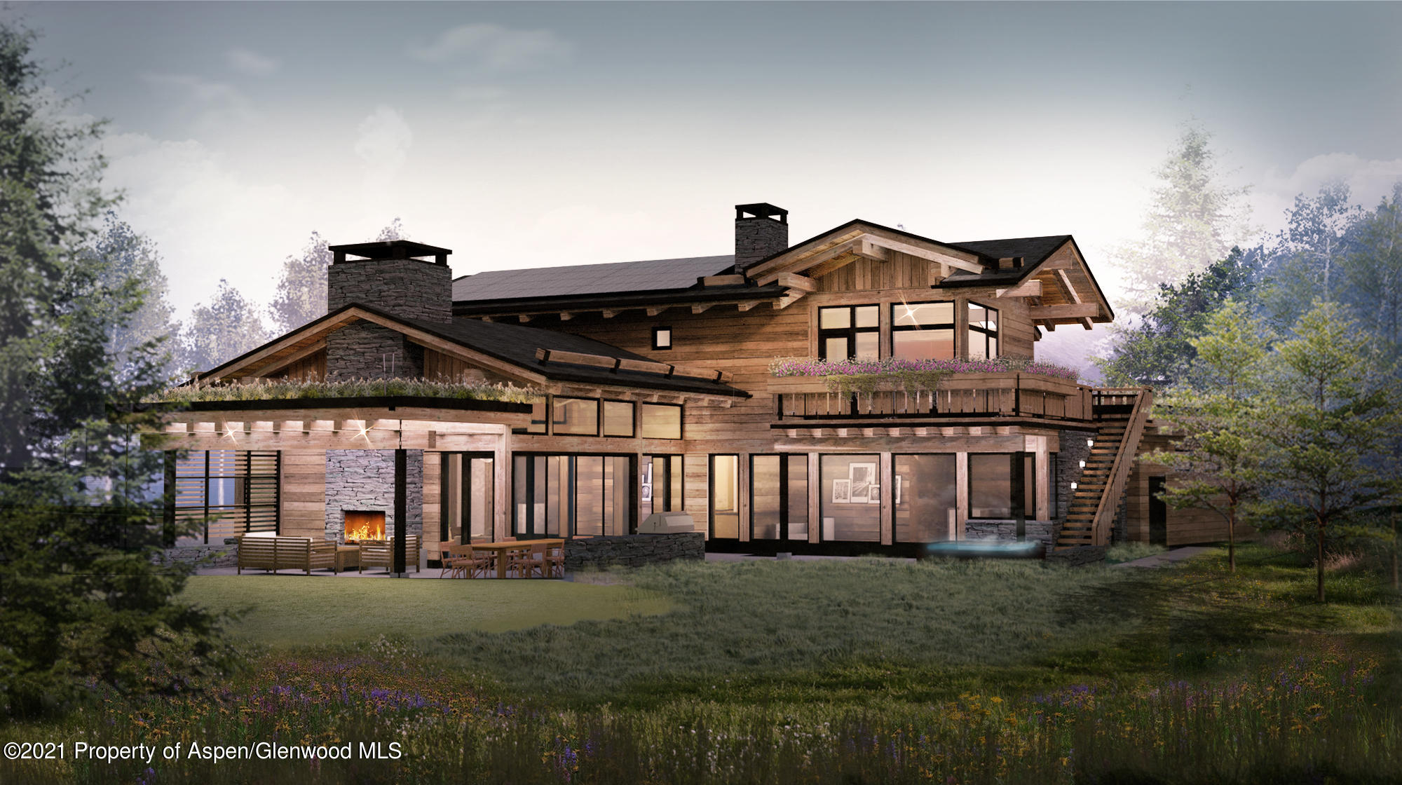 Stunning 5 bedroom 8 bath new construction created by Alpinist Ventures just moments from all four ski mountains, Maroon Creek and Aspen golf courses and steps to the Moore open space. With a distinct nod to European style and craftsmanship, 30 Maroon integrates old-growth timbers, reclaimed wood, locally fabricated architectural steel and a unique living roof. The home effortlessly rises from the landscape, creating an elemental, seamless fusion with the surrounding mountain vistas. Inside 30 Maroon Court, thoughtful layouts combine intimacy with dramatic open living spaces, making this home a dream for both entertaining and small family gatherings. Luxurious amenities include elegant, hotel-style ski and boot lockers and generous seasonal storage. Completion anticipated fall/winter 2022. The information contained herein, including, without limitation, any and all artist's or architectural conceptual renderings, plans, floor plans, specifications, features, facilities, dimensions, measurements depicted, or otherwise described herein, are based upon current development plans, which are subject to change or abandonment without notice, and may not be relied upon. No guarantees or representations whatsoever are made that any renderings, plans, floor plans, specifications, features, dimensions, measurements depicted, or otherwise described herein, will be provided, or, if provided, will be of the same type, size, quality, location or nature as depicted or otherwise described herein.   The office on the main level could be converted into a 6th bedroom.