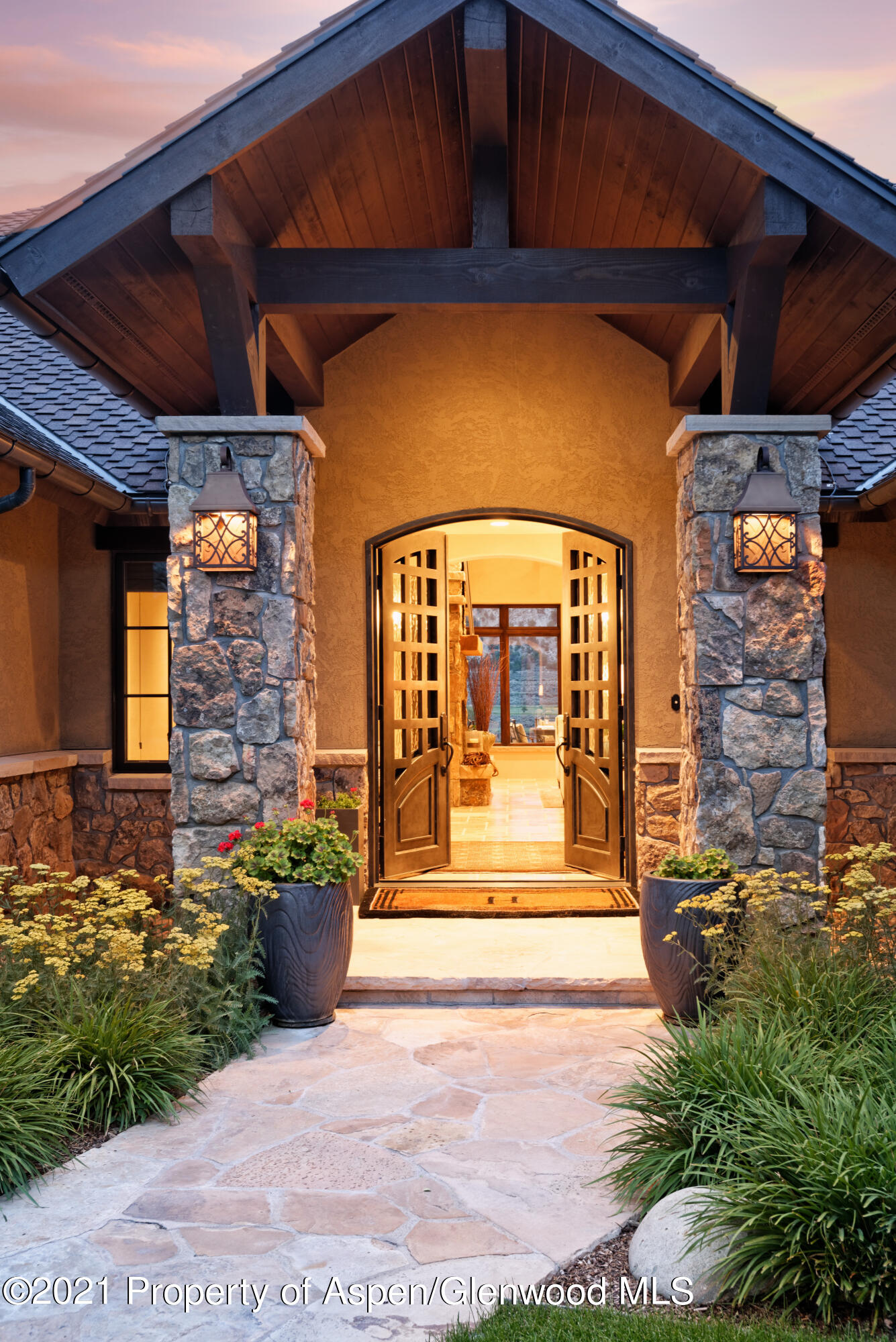 Entry-Custom steel & glass door.