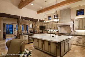 Kitchen-Light cabinetry, French gas stove