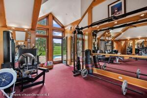 Fully-equipped gym in the master wing.