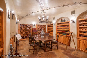 Wine Cave with hand painted Murals